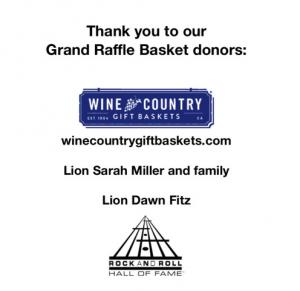 Grand Raffle Basket donor AD