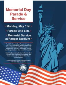 Memorial Day Parade and Service